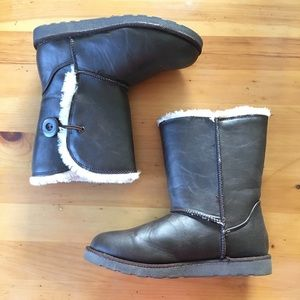SO Fur Boots Brown Size 7